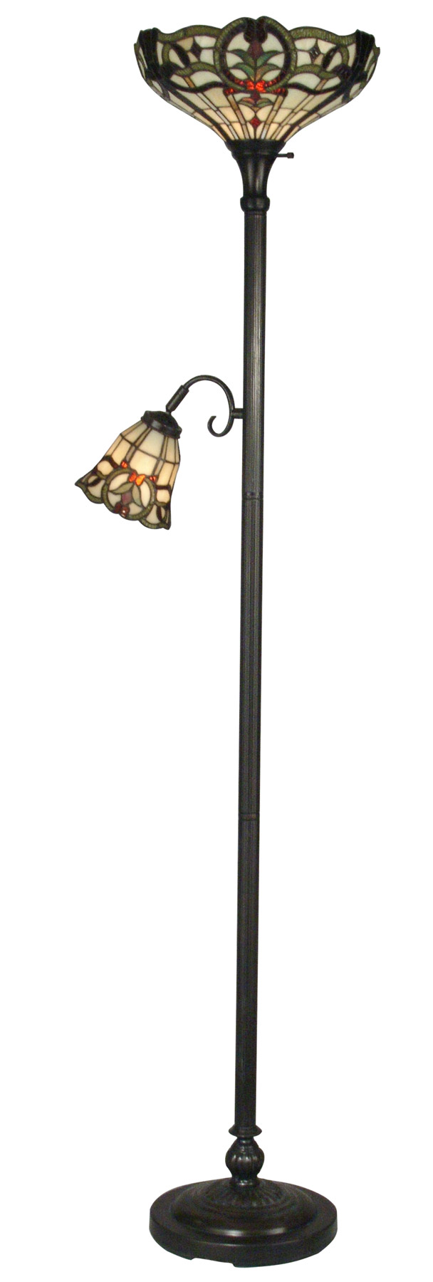 home lamps floor lamps torchiere dale tiffany tr10022. Black Bedroom Furniture Sets. Home Design Ideas