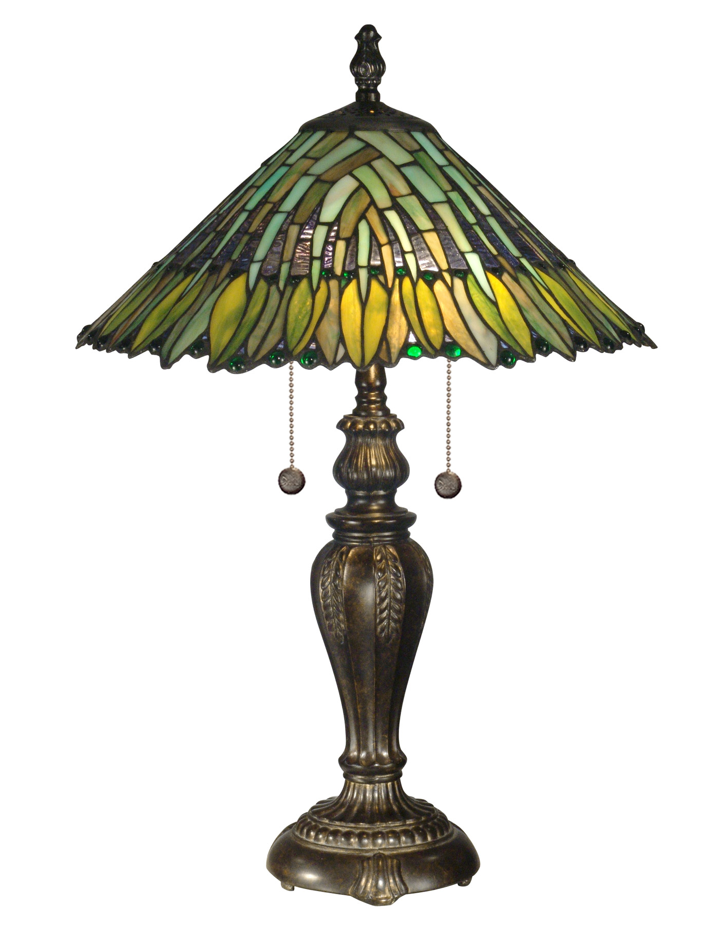 Dale Tiffany TT100914 Tiffany Leavesley Table Lamp