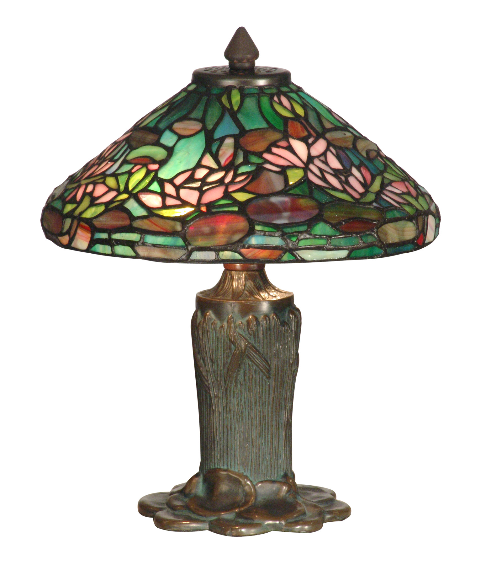 Dale Tiffany Tt10334 Tiffany Floral Leaf Accent Lamp