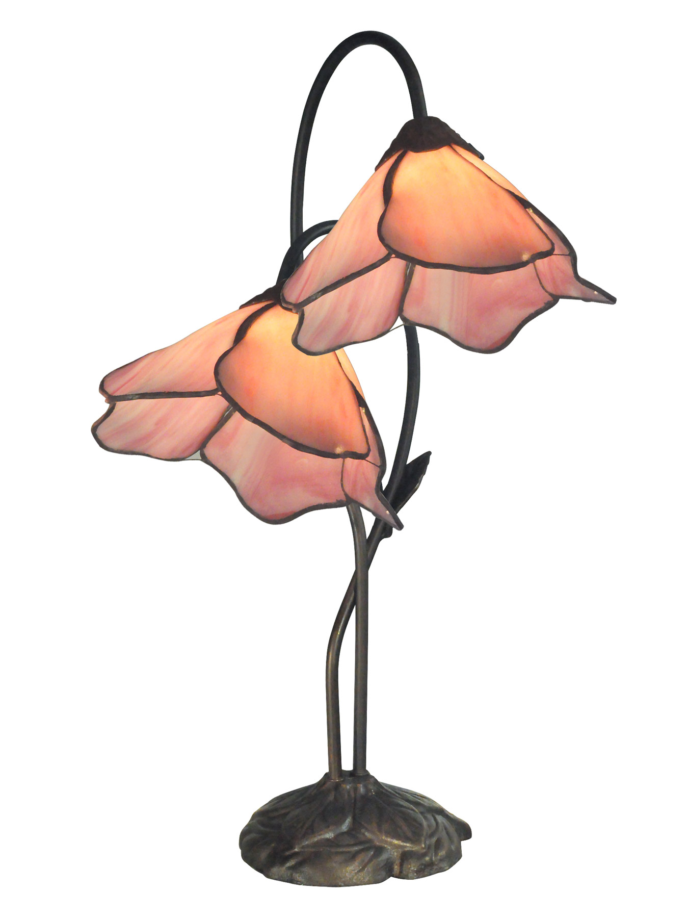 Dale Tiffany TT12146 Tiffany Poelking Pink Lily Desk Lamp