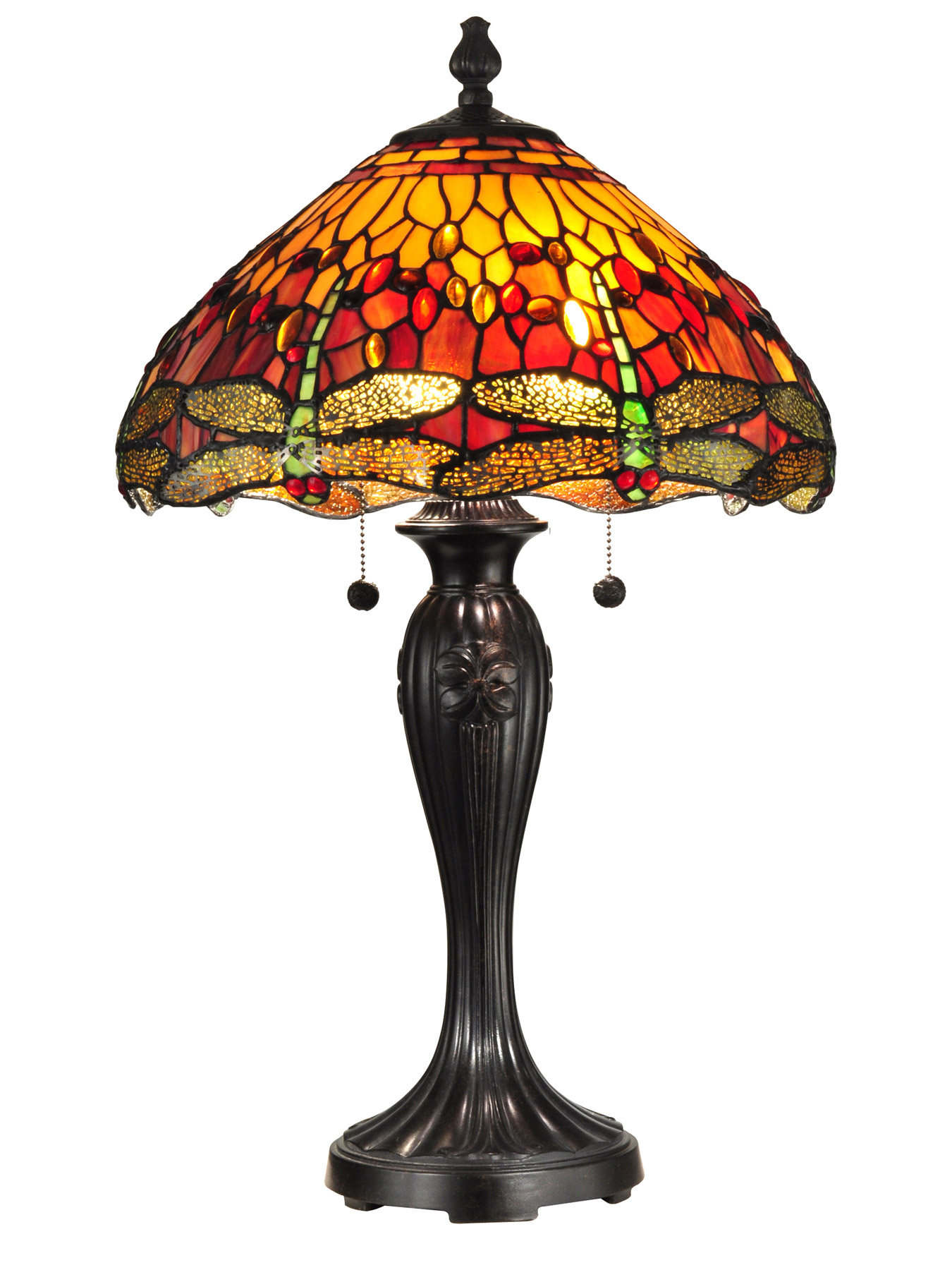 Dale Tiffany Tt12269 Tiffany Dragonfly Reves Table Lamp