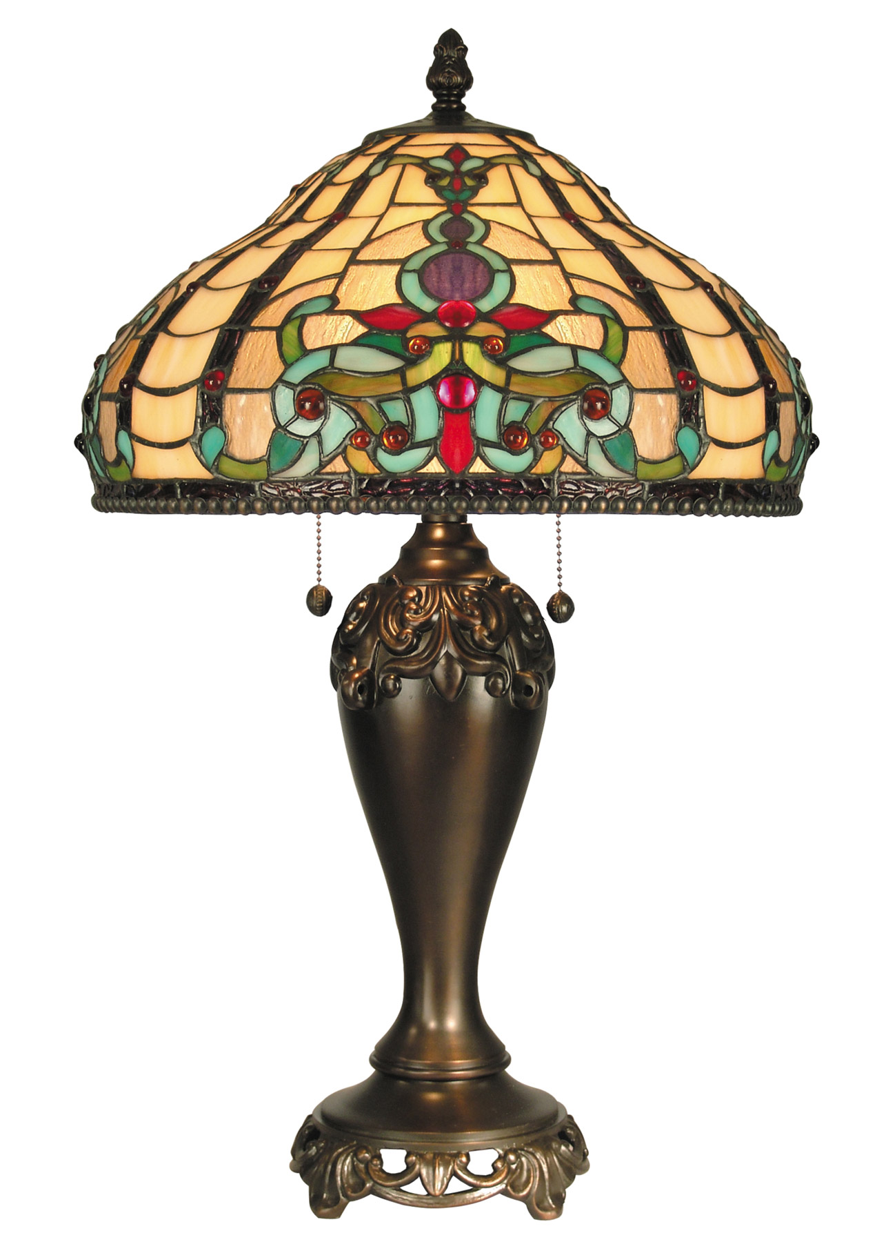 Dale Tiffany Tt60203 Tiffany Topaz Boroque Table Lamp