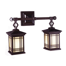 Dale Tiffany 2604/2LMW Craftsman Three Stripes Wall Sconce