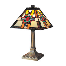 Dale Tiffany 7342/533 Craftsman Morning Star Mission Accent Lamp