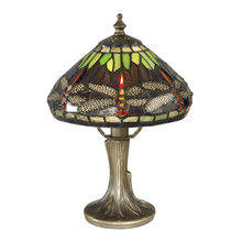 Dale Tiffany 7601/521 Tiffany Hanging Head Dragonfly Table Lamp