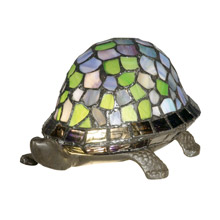 Dale Tiffany 7908/816A Tiffany Blue Turtle Accent Lamp