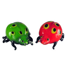 Dale Tiffany AS13073 Glass Lady Bug Figurines Set Of 2