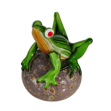Dale Tiffany AS13075 Glass Frog on Ball Figurine