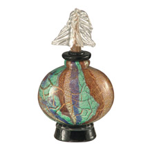 Dale Tiffany AV12083 Crackle Glass Decorative Perfume Bottle