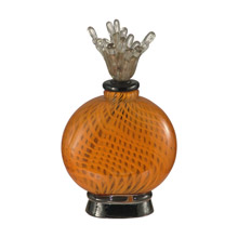 Dale Tiffany AV12085 Pumpkin Pie Glass Decorative Perfume Bottle