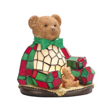 Dale Tiffany RS106 Tiffany Noel Bear Night Light Accent Lamp