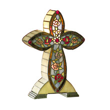 Dale Tiffany TA101214 Tiffany Floral Cross Accent Lamp