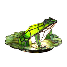 Dale Tiffany TA101231 Tiffany Frog on Lily Pad Accent Lamp
