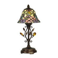 Dale Tiffany TA90215 Tiffany Crystal Jewel Peony Miniature Accent Lamp