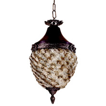 Dale Tiffany TH13053 Glass Flower Lantern Pendant