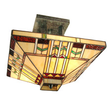 Craftsmanmission close to ceiling light fixtures lamps beautiful dale tiffany th70332 craftsman san carlos semi flush mount ceiling fixture aloadofball Choice Image