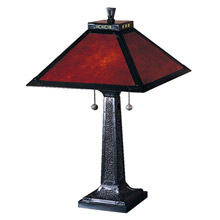 Dale Tiffany TT100174 Craftsman Camelot Table Lamp