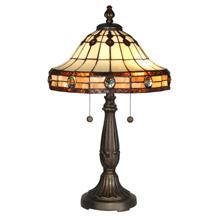 Tiffany lamp reproductions lamps beautiful dale tiffany tt10034 tiffany crystal jeweled table lamp aloadofball Gallery