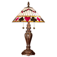 Novelty table lamps lamps beautiful dale tiffany tt101420 tiffany royal flush table lamp aloadofball