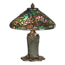 dale tiffany tt10334 tiffany floral leaf accent lamp