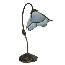 Dale Tiffany TT12145 Tiffany Poelking Blue Lily Desk Lamp