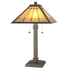 Craftsmanmission table lamps lamps beautiful dale tiffany tt70734 craftsman jeweled mission table lamp aloadofball Images