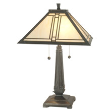Dale Tiffany TT70735 Craftsman Lined Table Lamp