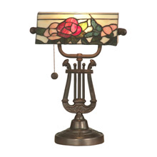 Dale Tiffany TT90186 Tiffany Broadview Bankers Lamp