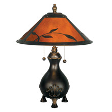 Dale Tiffany TT90193 Craftsman Leaves Table Lamp