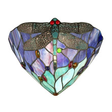 Dale Tiffany TW12062 Tiffany Jeweled Dragonfly Wall Sconce