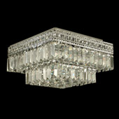 Crystal Berlin Flush Mount Ceiling Light Fixture - Dale Tiffany GH90288
