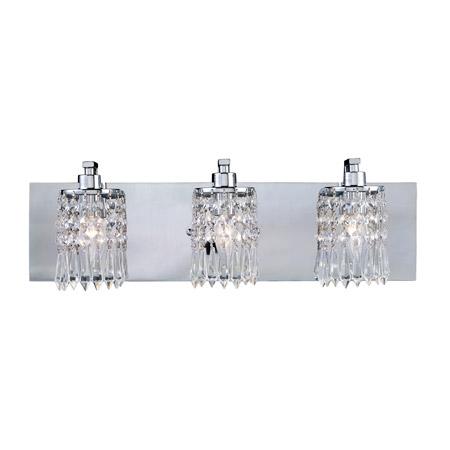 Crystal Vanity Lights Bathroom : Elk Lighting 11230/3 Crystal Optix Vanity Light