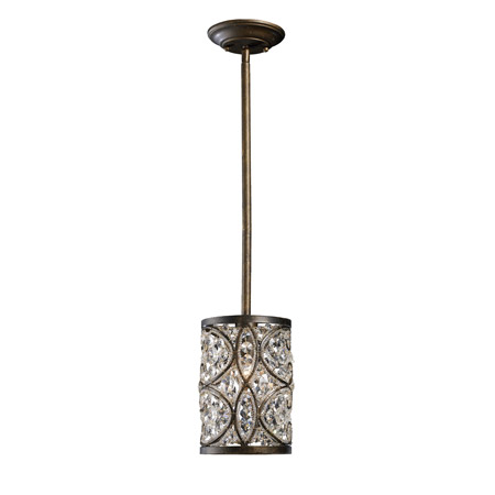 Elk Lighting 11285/1 Crystal Amherst Mini Pendant