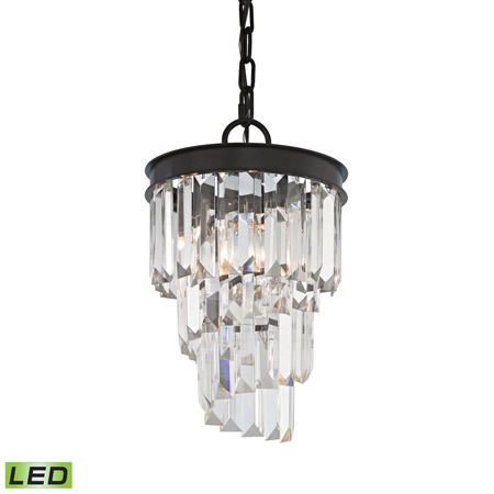 Elk Lighting 14216/1-LED Crystal Palacial 1 Light LED Pendant In Oil Rubbed Bronze