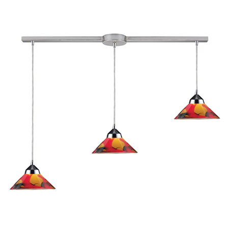 Elk Lighting 1477/3L-JAS Refraction Linear Multi Pendant Ceiling Fixture