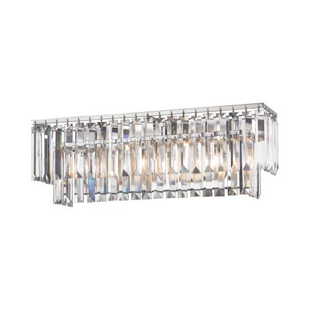 Elk Lighting 15212/3 Crystal Palacial 3 Light Vanity In Polished Chrome