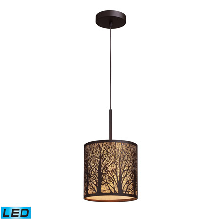 Elk Lighting 31073/1-LED Woodland Sunrise 1 Light LED Pendant In Aged Bronze