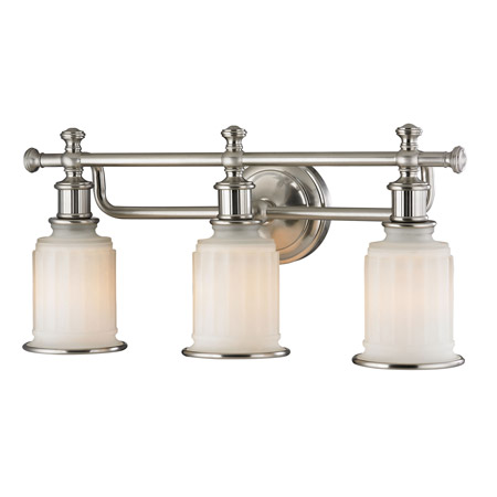 Elk Lighting 52002/3 Acadia 3 Light Vanity In Brushed Nickel