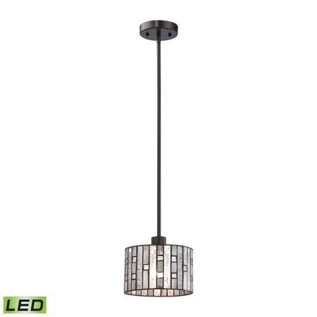 Elk Lighting 70211/1-LED Ethan 1 Light LED Pendant In Tiffany Bronze