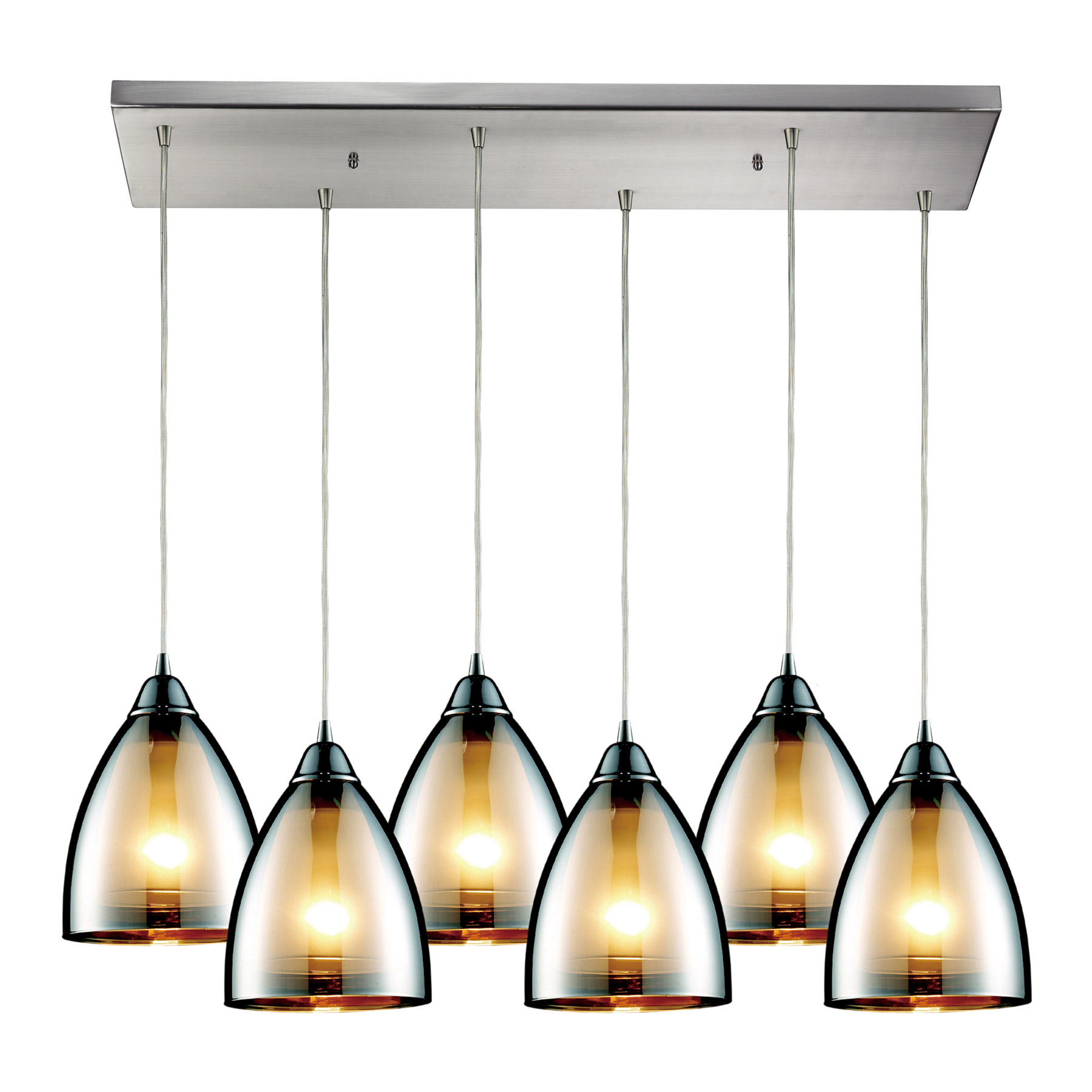 Elk Lighting 10073 6rc Reflections 6 Light Multi Pendant