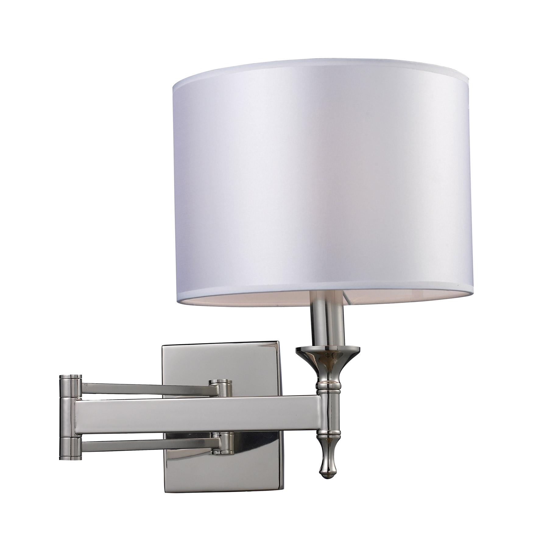 Bedroom Swing Arm Wall Sconces lighting 10160/1 pembroke swing arm wall sconce