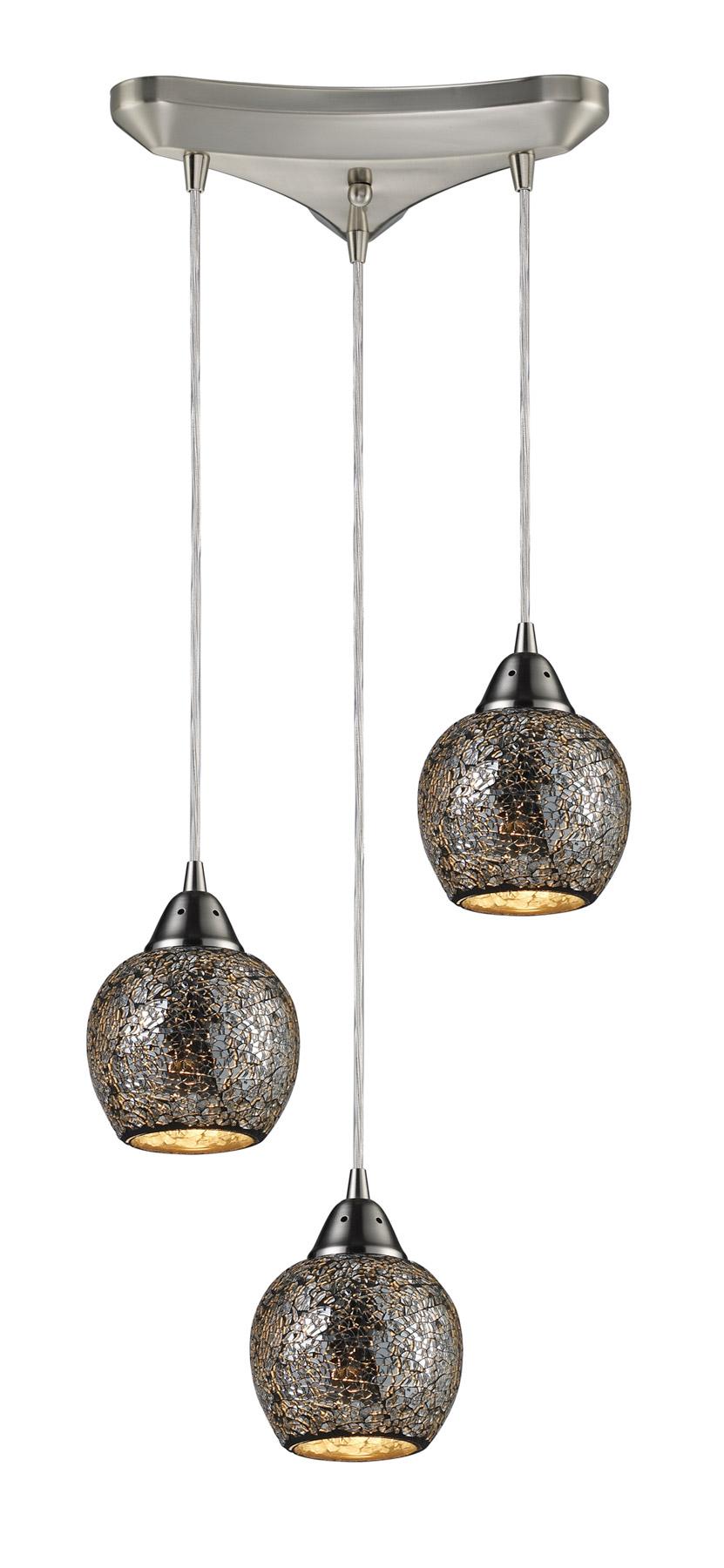 Elk Lighting 10208 3slv Fission Silver Multi Pendant