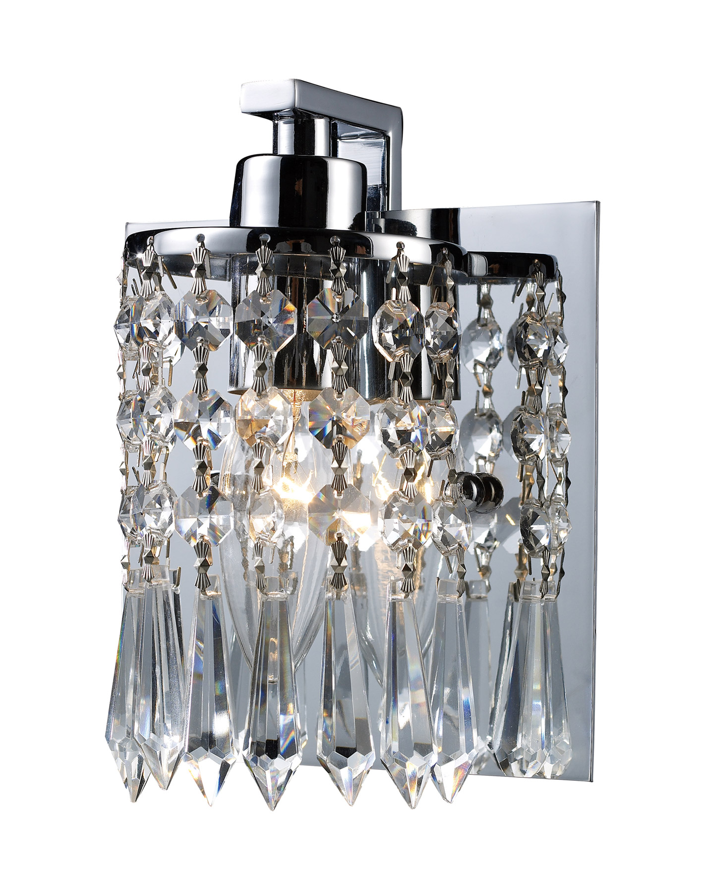 Crystal Wall Sconces Bathroom : Elk Lighting 11228/1 Crystal Optix Wall Sconce