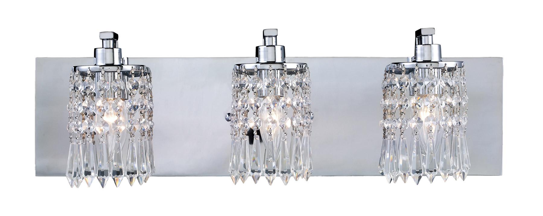 Crystal Bath Vanity Lights : Elk Lighting 11230/3 Crystal Optix Vanity Light