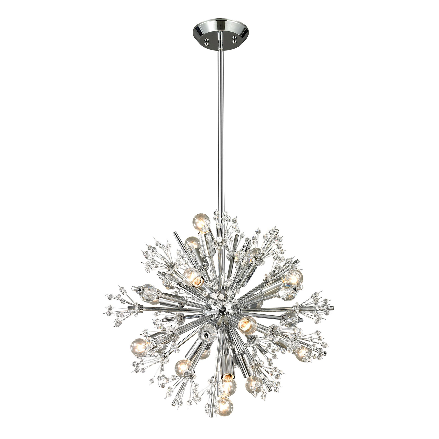 elk lighting starburst 15light small chandelier - Starburst Chandelier