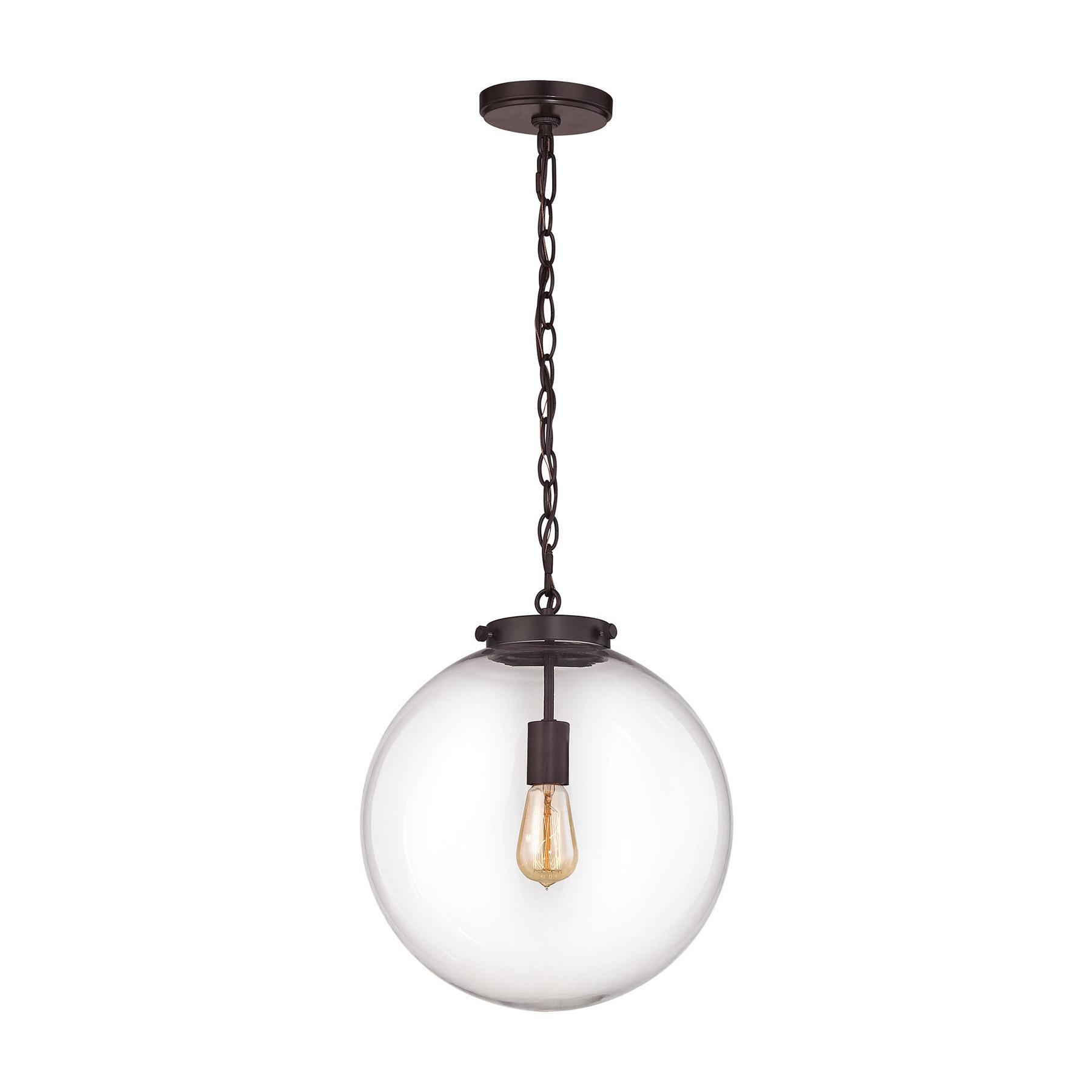 Elk lighting 163731 gramercy 1 light pendant in oil rubbed bronze aloadofball Images