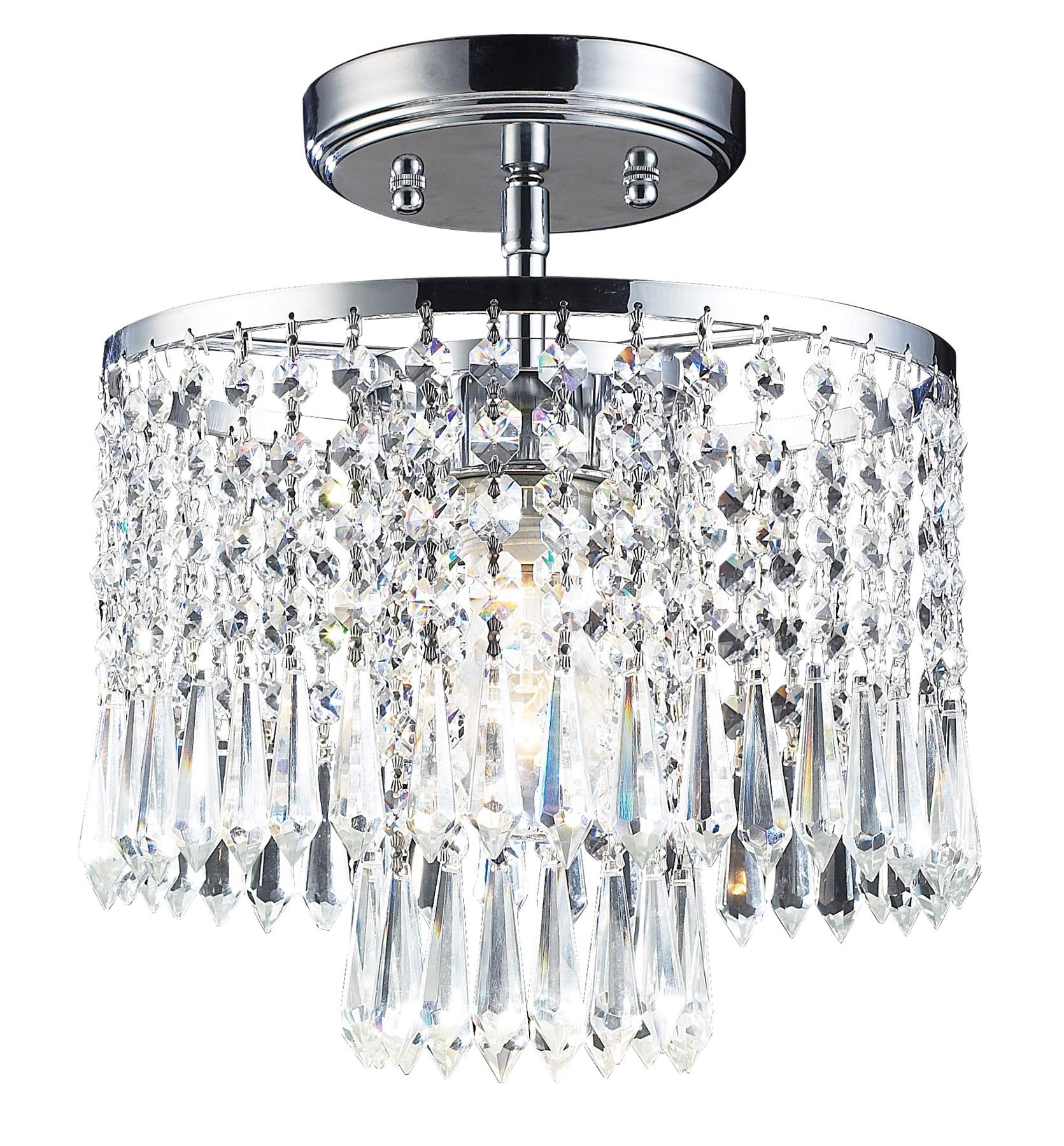 Elk Lighting 1991 1 Crystal Optix Semi Flush Ceiling Fixture