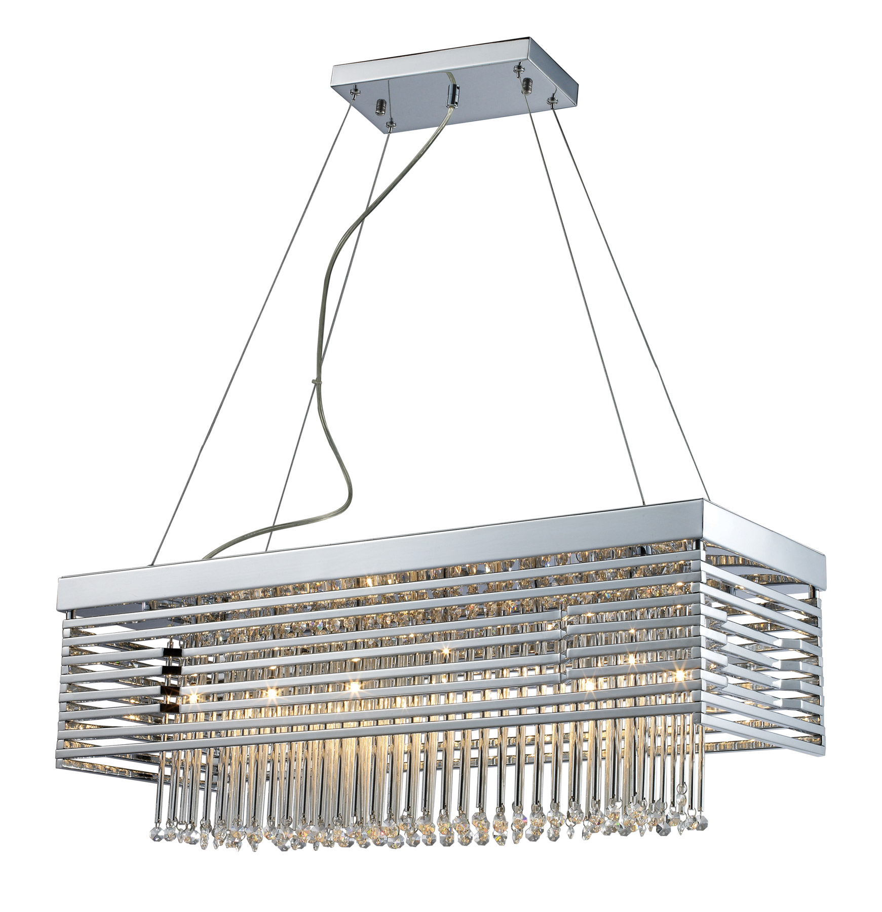 Elk Lighting 30020 12 Cortina Twelve Light Rectangular Chandelier