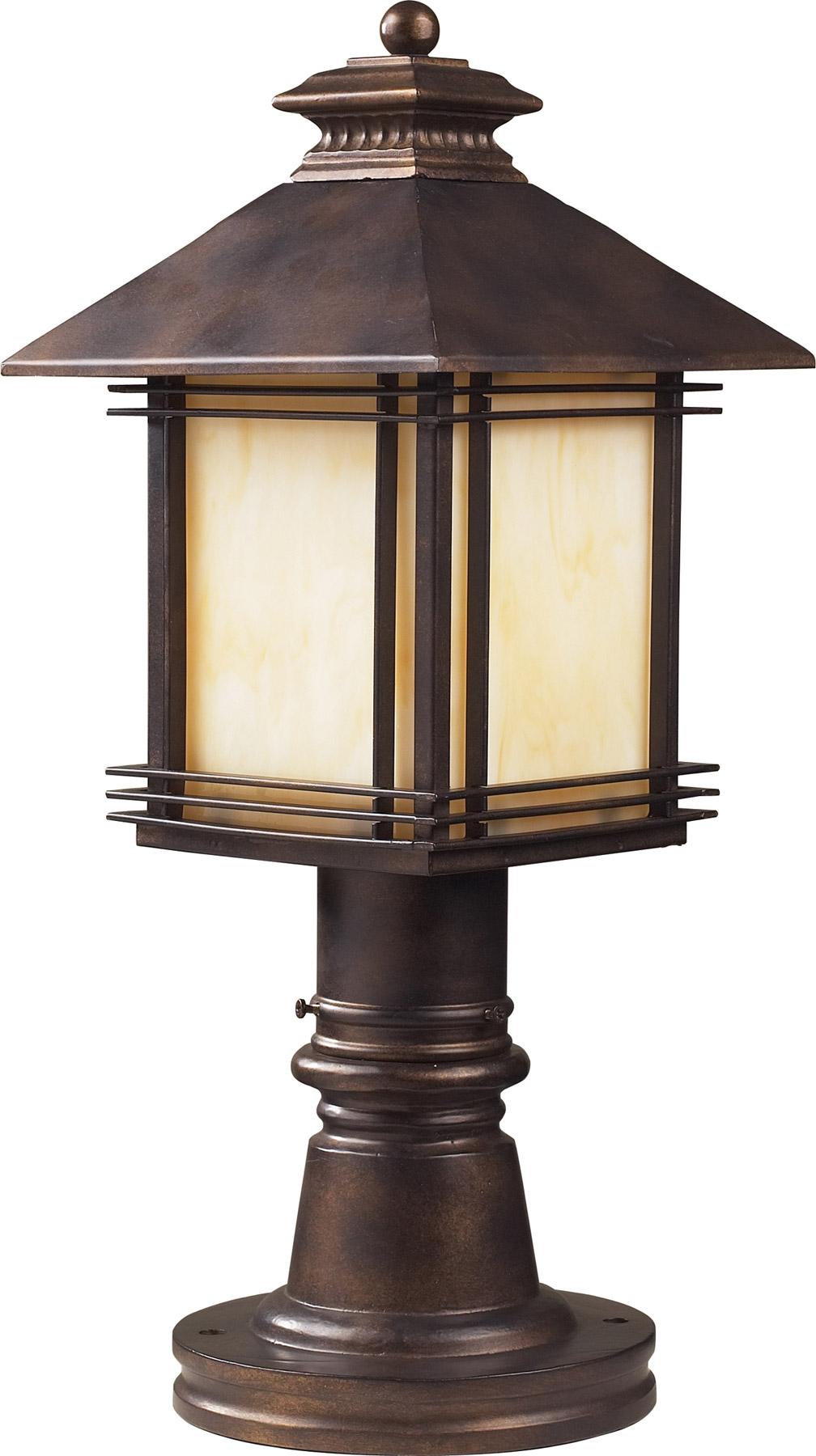 elk lighting 42104 1 blackwell outdoor post mount fixture