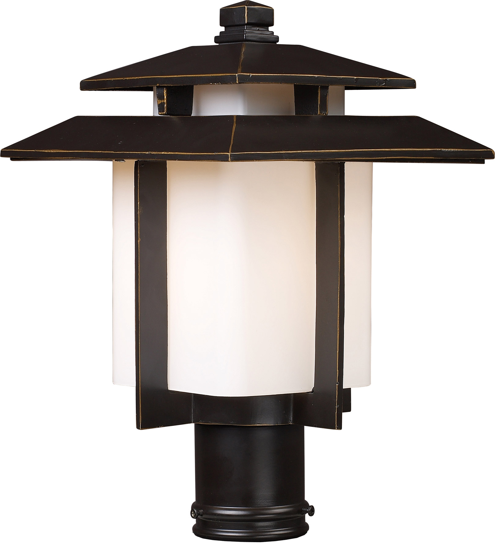 Elk lighting 42173 1 kanso outdoor post mount fixture for Outdoor home lighting fixtures